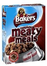 Bakers Complete Dog Adult Meaty Meals Beef 1kg
