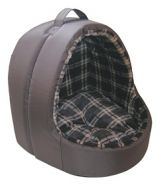 Lazy Bones Hooded Cat Bed Brown