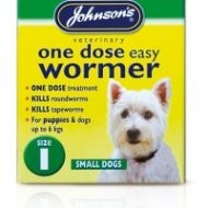 Johnson's One Dose Easy Wormer Size 1